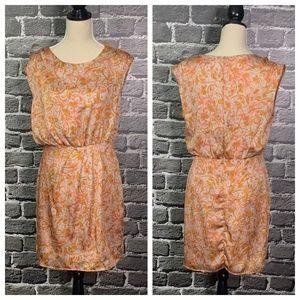 Peppermint Orange Satin Dress Sz L